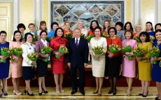 Meeting with women representatives on the eve of International Women's Day